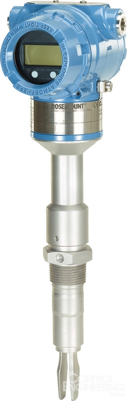 艾默生推出全球首台支持HART的振动型音叉液位开关