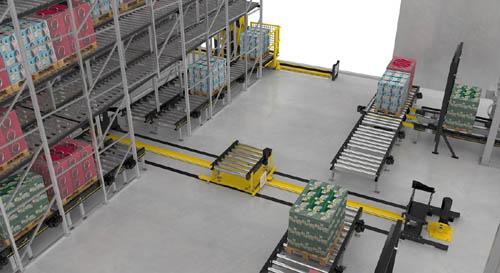 英特诺扩展模块化托盘输送机平台(MPP),新增堆垛机和穿梭小车