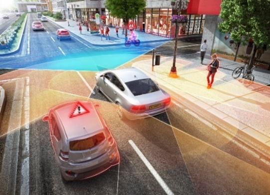 全方位的安全感:大陆集团展示 360 度覆盖车身周围环境的新长距雷达传感器