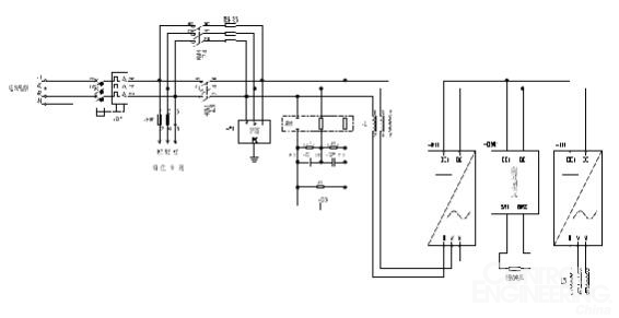 四象限变频器主电路接线图