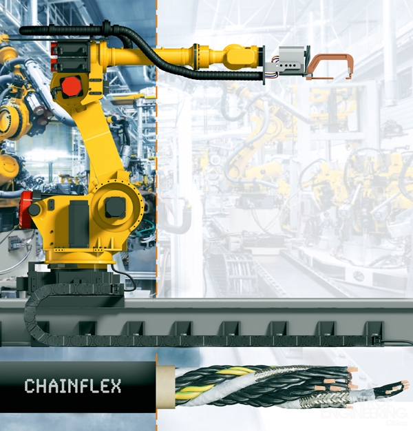 适用于Fanuc机器人第七轴的新款igus拖链专用电缆
