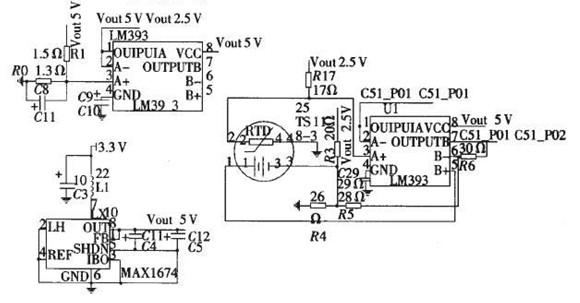 温度传感器模块电路图