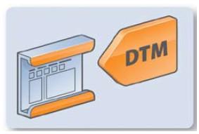 发布 组织 标准 fdt2 fdt/图1 框架应用(左)和DTM(右)的图形符号