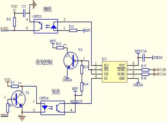 单片机 控制4台三相异步电动机 正反转 电路图