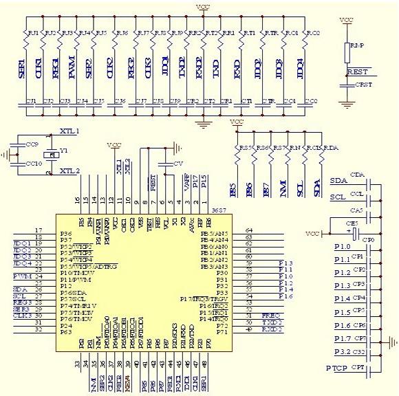 ,从而得到被测信号的真有效值,这样就避免了被测信号波形畸变对采样值的影响。   信号采集单元的功能取样、整流、放大互感器二次测的输出信号,将这些信号转换为单片机可处理的信号。ARD3电动机保护器中处理三相电流信号、剩余电流信号、电压信号的信号采集放大电路原理都相同,现以一路电流信号采集放大电路为例说明电路工作原理。  图1 信号采集放大电路   信号采集放大电路如图1所示。在图中二极管A1、A7是双向二极管,对后级电路起到过压保护作用。当输入的信号在正常范围内,A1、A7不起作用,当输入信号超出正常范围(