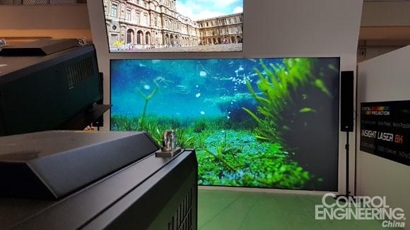 台达于ISE 2018全球首发25,000流明超高分辨率8K DLP投影机