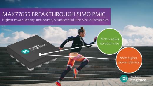 Maxim Integrated推出业界最小的四路输出SIMO电源管理IC,将功率密度提高85%