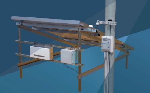 利用物联网通讯方案实现对太阳能电力转换效益的远程监控系统