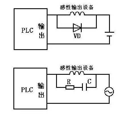 如果是交流感性负载,应在其两端并联阻容吸收电路.
