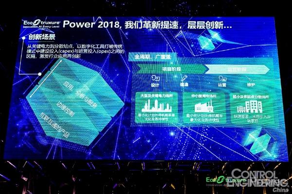 数据传递价值 赢领智能配电 施耐德电气升级EcoStruxure Power 架构