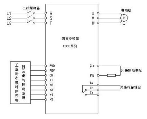 小天鹅洗衣机接线图; 变频器实物接线图;