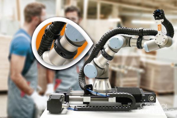 快速装配,安全牢固:用于协作机器人的新型拖链安装夹具
