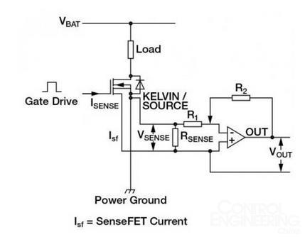 比率式 - 电流检测mosfet   mosfet由成千上万个能降低导通电阻的