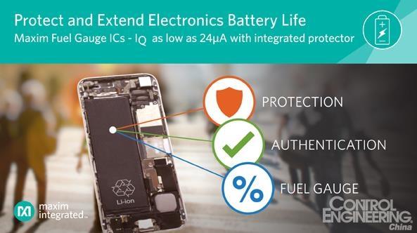 Maxim发布业界最高精度、最低静态电流电量计IC,集成电池保护器为系统提供最高安全等级