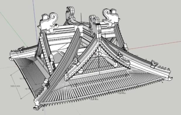成本低、时间快、质量高 3D打印制作古建模型